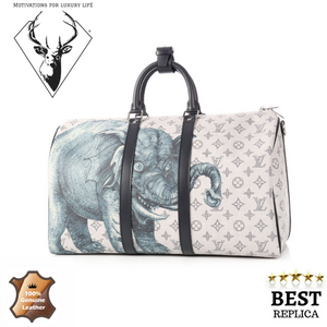 replica-Louis-Vuitton-CHAPMAN-BROTHERS-ELEPHANT-SAFARI-KEEPALL-DUFFLE-motivations-for-luxury-life