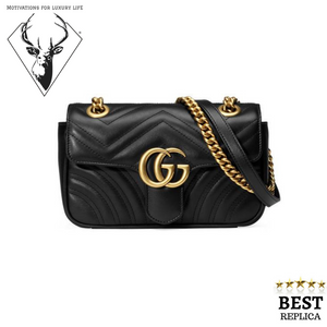 replica-Gucci-MARMONT-Matelassé-Black-Bag-motivations-for-luxury-life