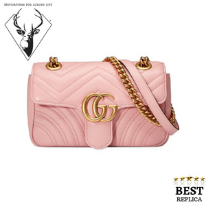 replica-Gucci-MARMONT-Matelassé-pink-Bag-motivations-for-luxury-life