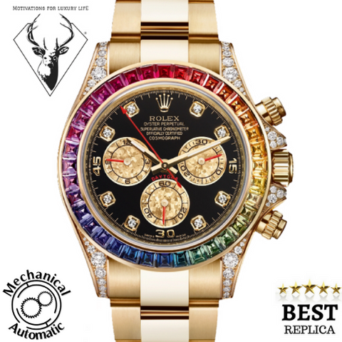replica-Rolex-Rainbow-Oyster-Perpetual-Cosmograph-mechanical-automatic-motivations-for-luxury-life