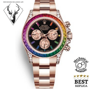 replica-Rolex-rose-gold-RAINBOW-DAYTONA-motivations-for-luxury-life