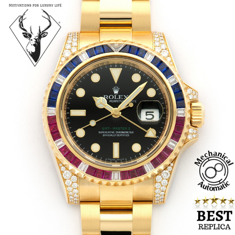replica-Rolex-GMT-MASTER-II-DIAMOND-PEPSI-motivations-for-luxury-life
