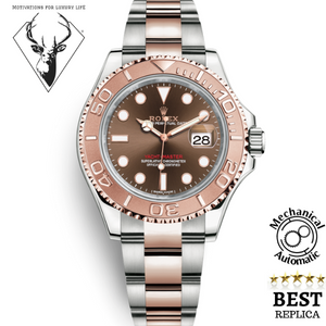 Replica-Rolex-YACHT-MASTER-ROSE-GOLD-BROWN-CHOCOLATE-DIAL-motivations-for-luxury-life