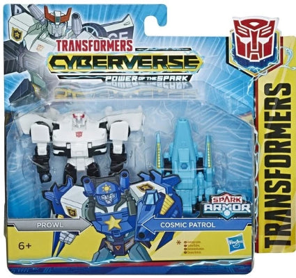 Transformers Cyberverse Spark Armor Prowl with Cosmic Patrol