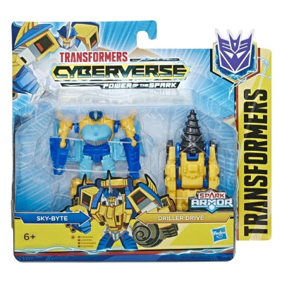 Transformers Cyberverse Spark Armor Sky-Byte with Driller Drive