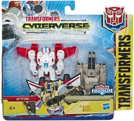 Transformers Cyberverse Spark Armor Jetfire with Tank Cannon