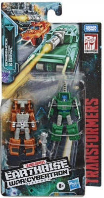 Transformers Earthrise Micromasters Bombshock & Decepticon Growl