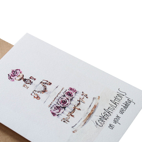 TRAQUE STUDIO - CARD - CONGRATULATION ON YOUR WEDDING