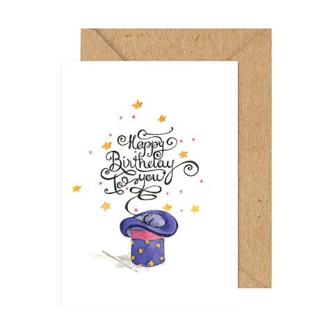 TRAQUE STUDIO - CARD - HAPPY BIRTHDAY HAT