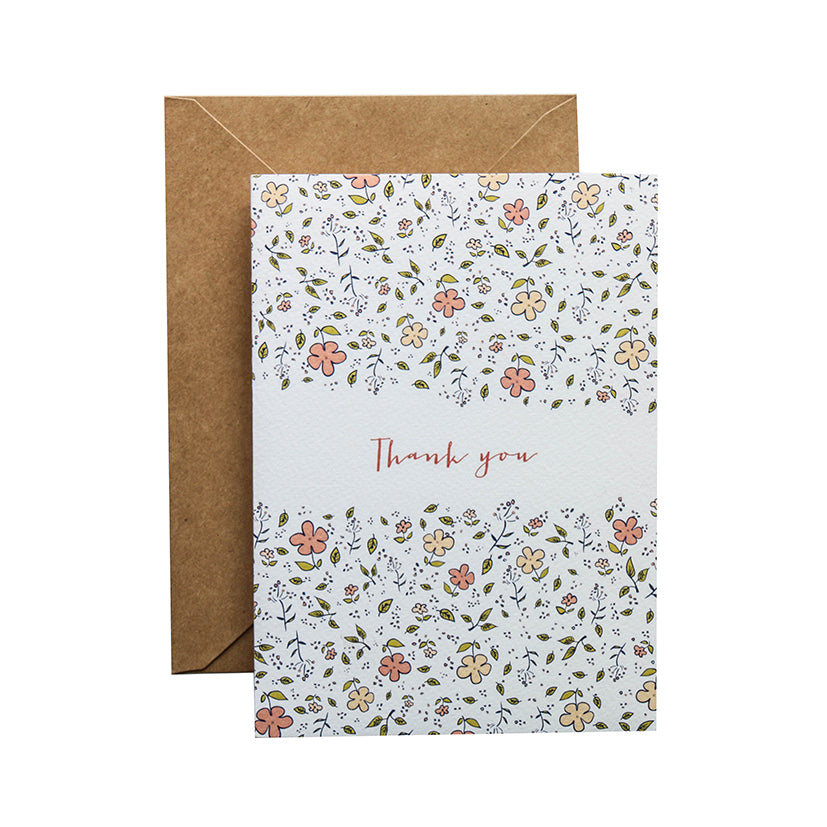 TRAQUE STUDIO - CARD - THANK YOU FLOWER