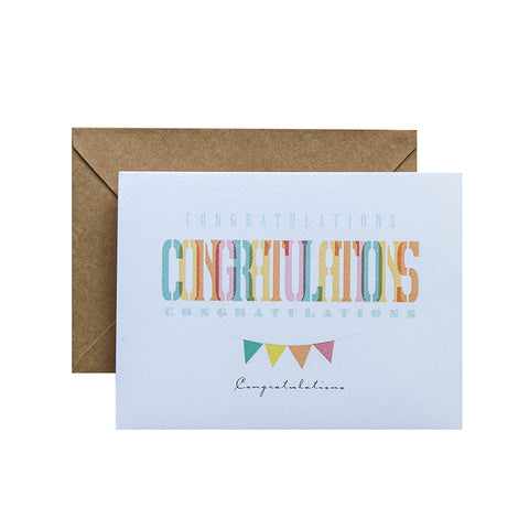 TRAQUE STUDIO - CARD - CONGRATURATIONS