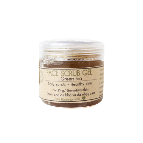 GUBY HOMEMADE - GREEN TEA FACE SCRUB