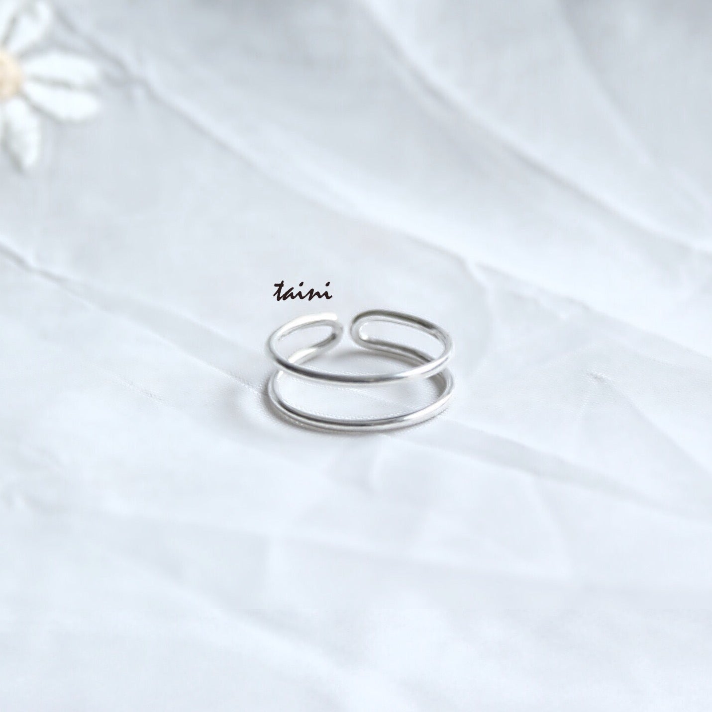 TAINI SILVER - 2-LINE RING