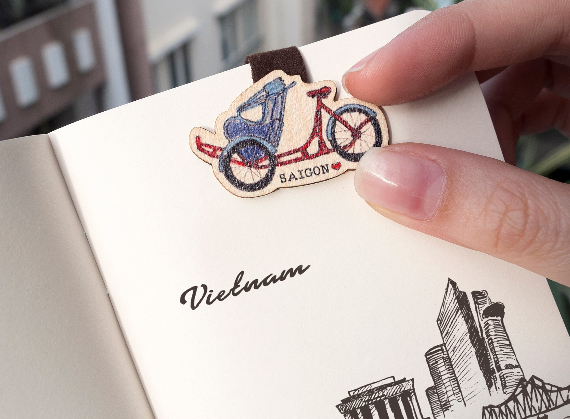 Wooden Bookmark Tick and Pick