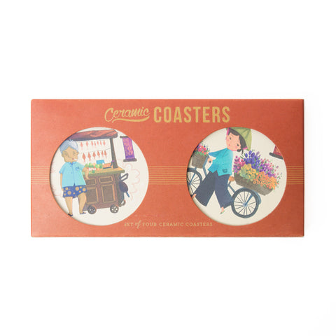 TICKANDPICK - CERAMIC COASTER - STREET VENDORS