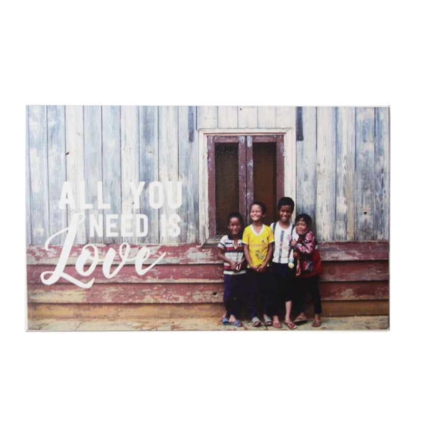 TICKANDPICK - WOODEN POSTCARD - ALL YOU NEED IS LOVE