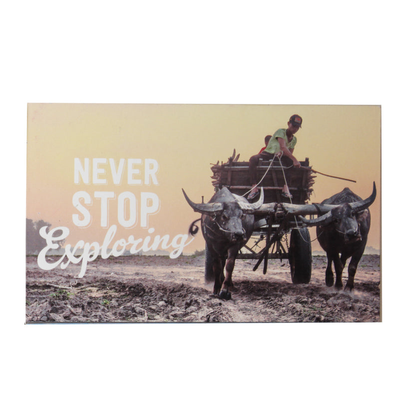 TICKANDPICK - WOODEN POSTCARD - BUFFALO