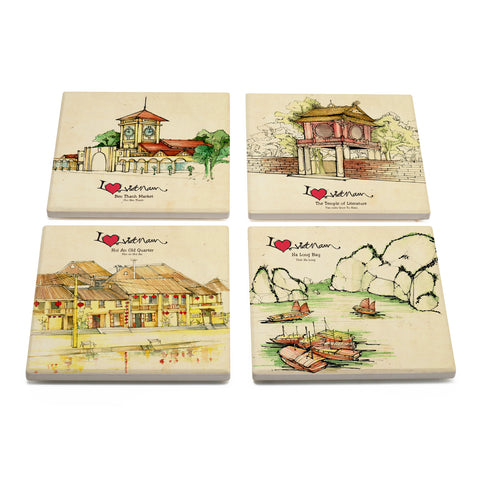 TICKANDPICK - CERAMIC COASTER - DESTINATIONS VIETNAM