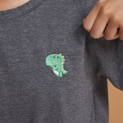SMALLER THAN A FLY -  T-SHIRT GREEN T-REX