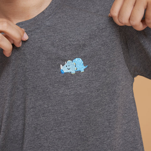 SMALLER THAN A FLY -  T-SHIRT BLUE DINOSAURS