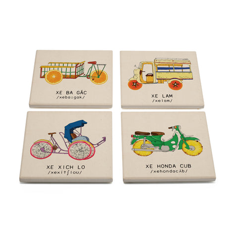 TICKANDPICK - CERAMIC COASTER - VEHICLE OF VIETNAM