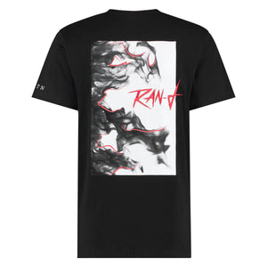RAN-D BLACK GRAPHIC TEE