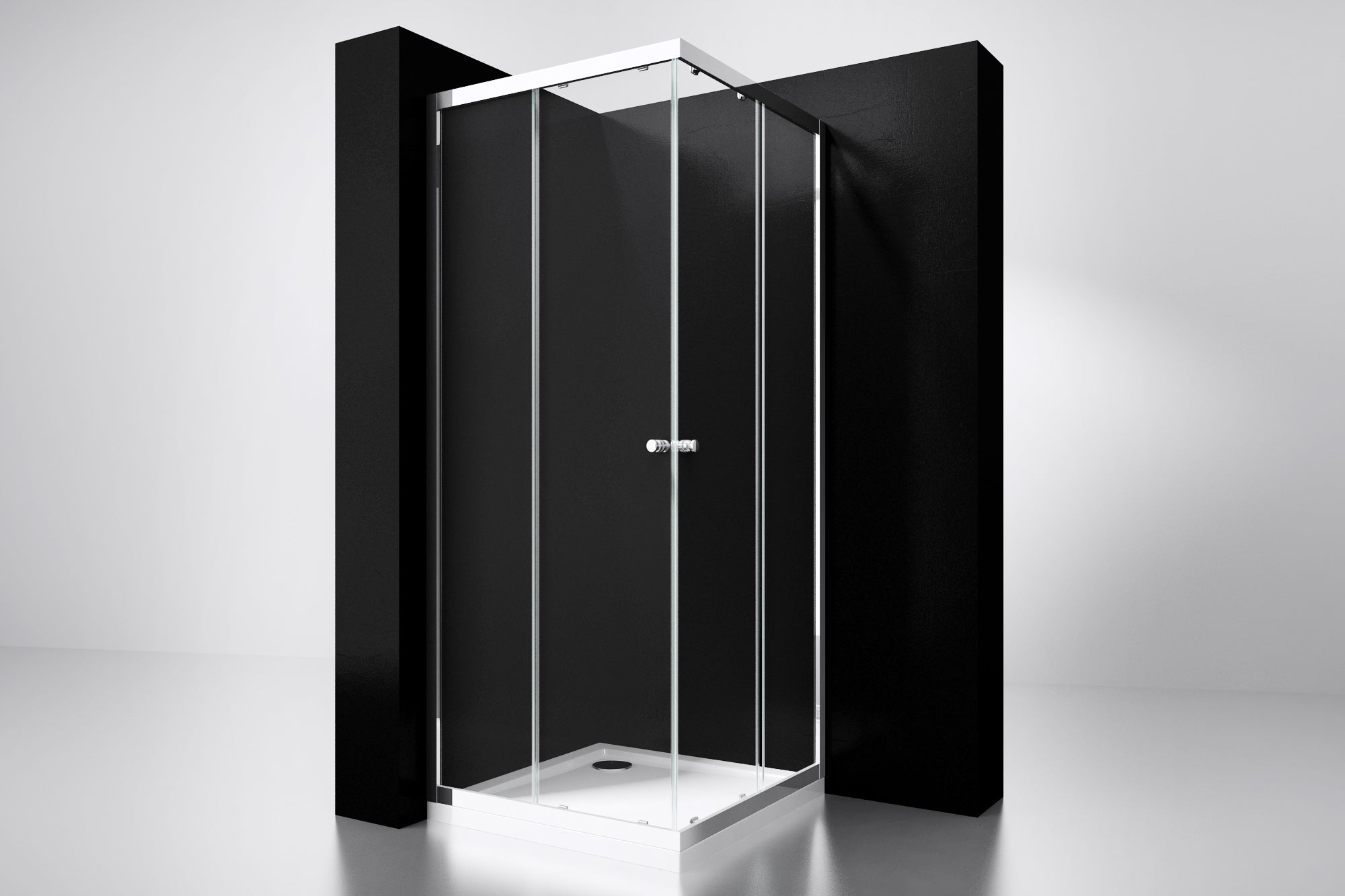 "[4002540] Best-Design  ""Project"" douche hoekinstap 80x80x190cm glas 5mm"