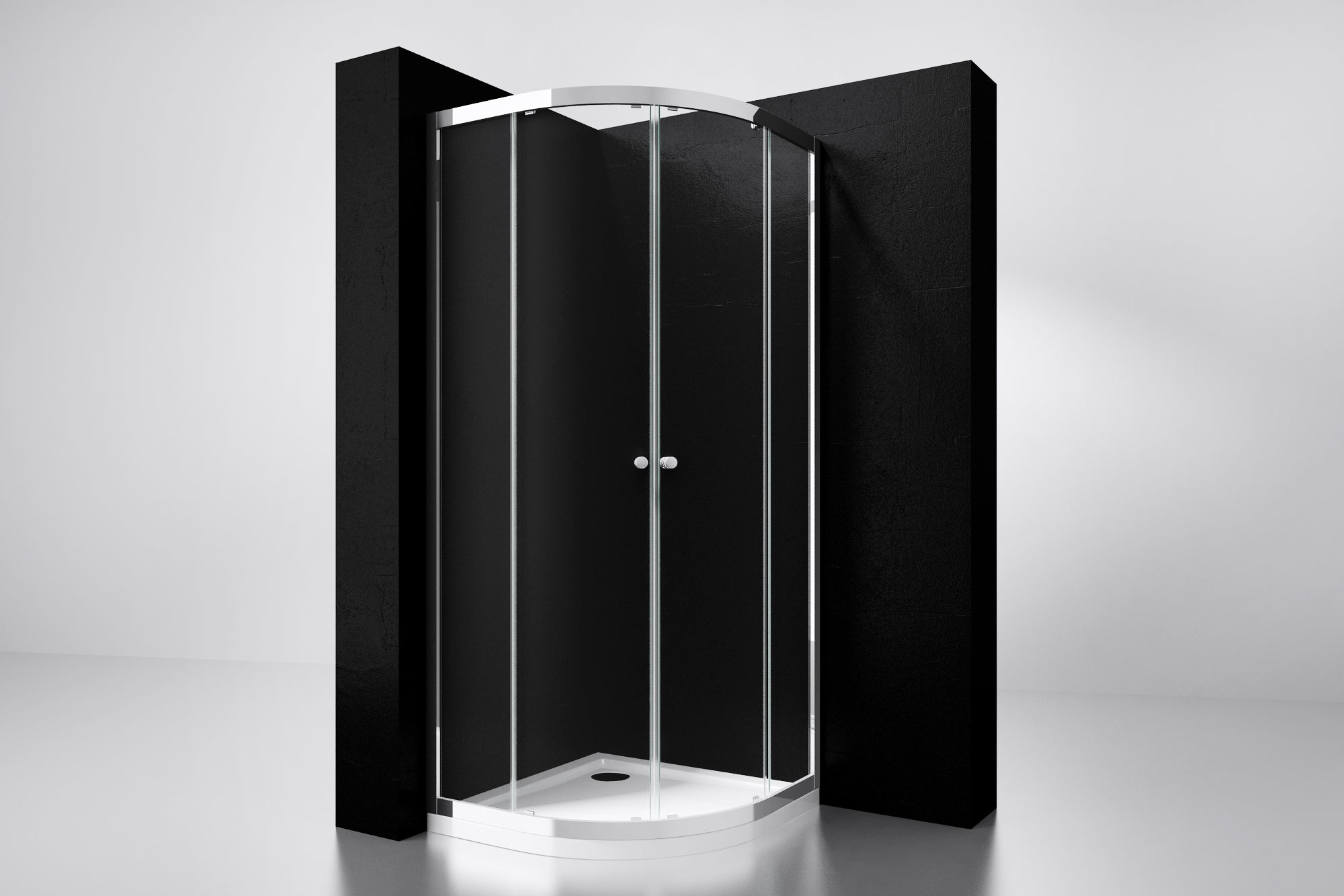"[4002560] Best-Design  ""Project"" 1/4 ronde douchecabine 80x80x190cm glas 5mm"