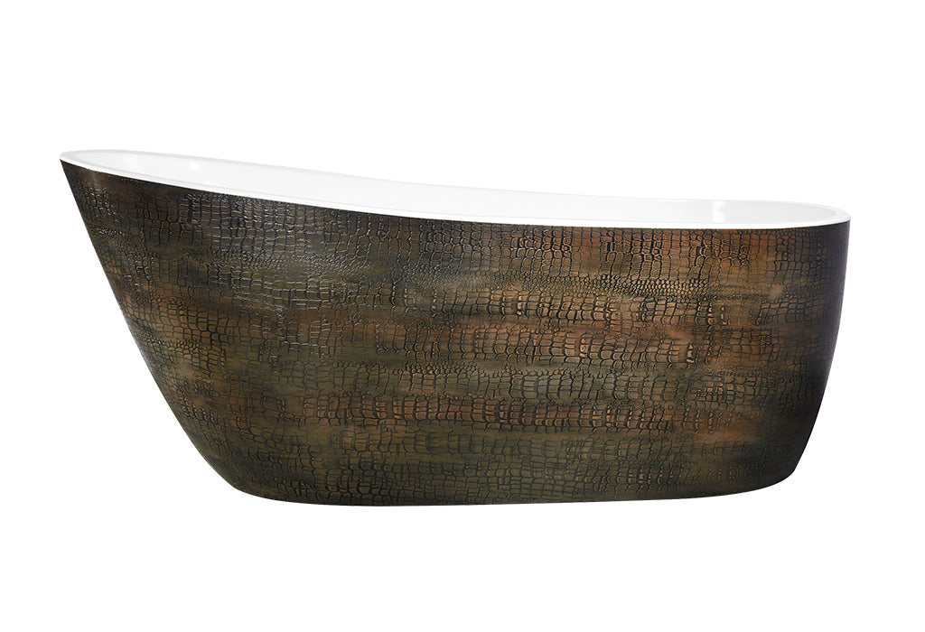 "[4005130] Best-Design  ""Color-Croco-First"" vrijstaand bad 180x80x73cm"