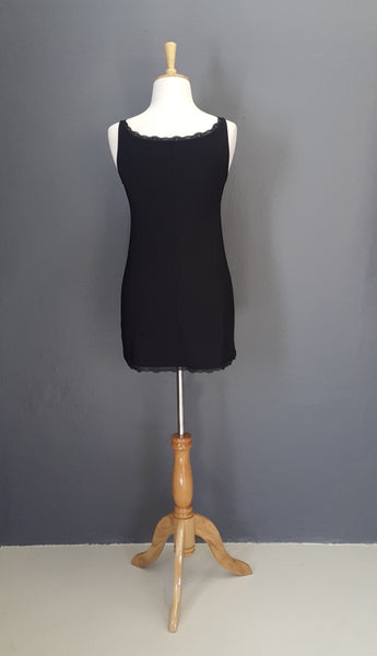 Basic Black Cami Tunic with Lace Detail