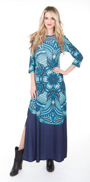 Blue Deco Signature Maxi Dress
