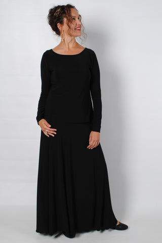 Basic Black Lita Maxi Skirt
