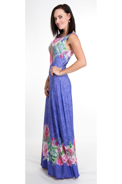 Signature Periwinkle A-line Maxi Dress