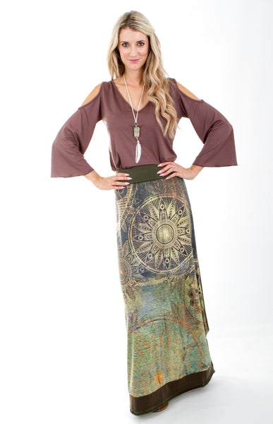 Signature Rosa 2 Maxi Skirt with Trim