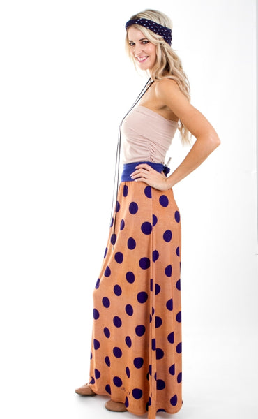 Signature Polka Maxi Skirt