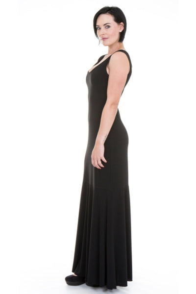 Vintage Black Basic Maxi Dress