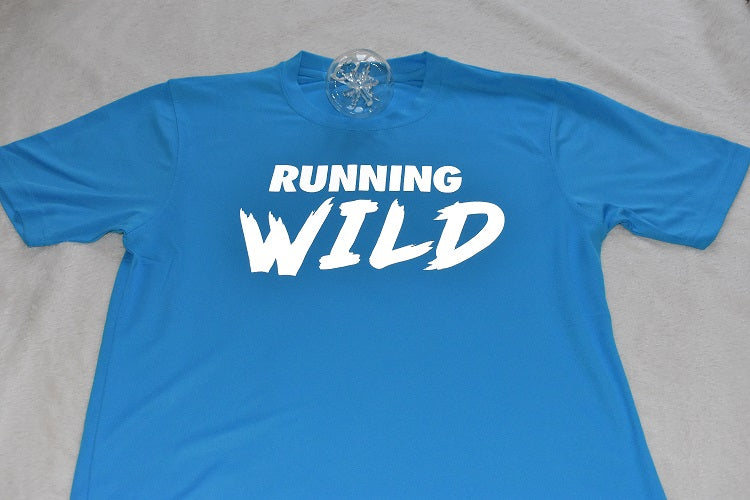 """RUNNING WILD"" print technical top"