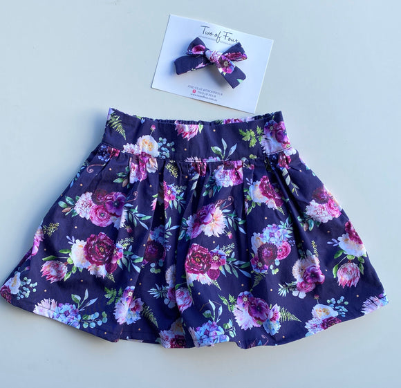 Florence Foral Girls Skirt