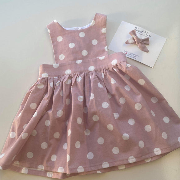 Demi Dot Pinafore Dress