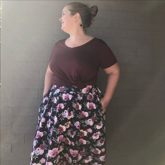 Florence Floral Womens Skirt - JUNE delivery