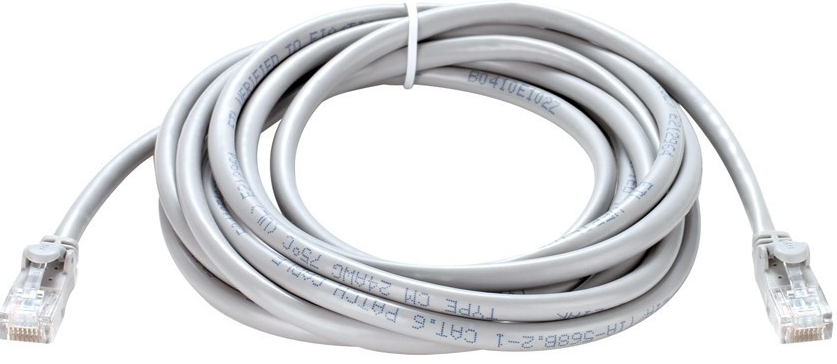 Cat6 UTP 24 AWG PVC Round Patch Cord - 15M - Grey Colour