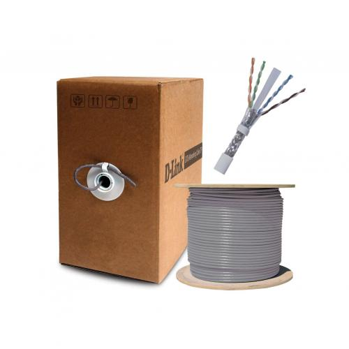 Dlink Cat6 UTP 23 AWG PVC Solid Cable - 305M/Roll - Grey Colour