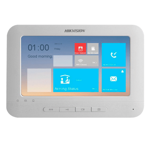 Hikvision DS-KH6320-WTE1 Video Intercom Indoor station with 7-Inch Touch Screen