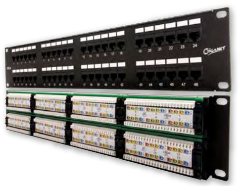 Giganet 48 port patch panel