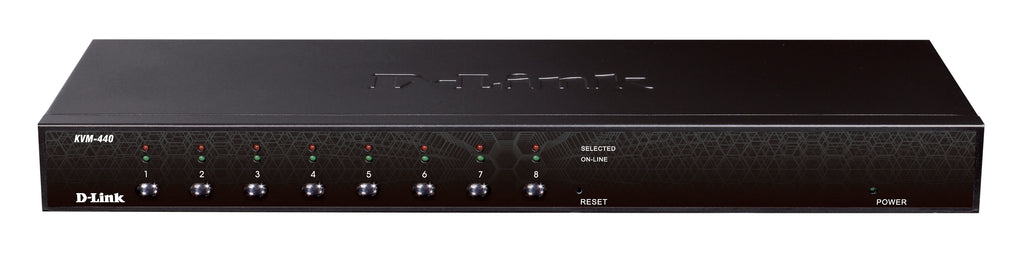 8-Port Combo KVM Switch rack mountable (PS2 and USB 1.1/2.0 support, upto 2048 x 1536 VGA resolution), including 4x 1.8m cables