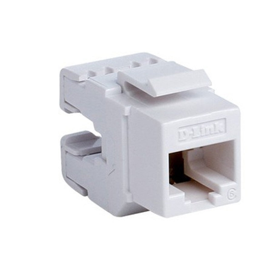 Dlink Cat6 UTP 180〫 Punch Down Keystone Jack  - White Colour