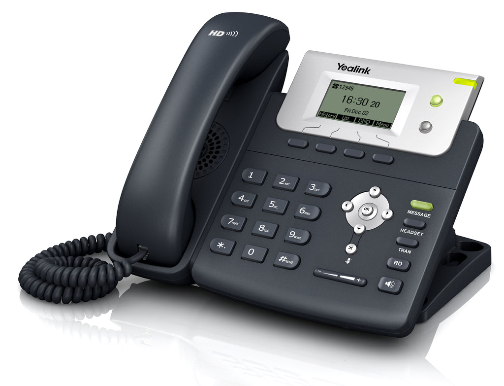 Yealink T21P E2 is a 2-line entry level IP phone