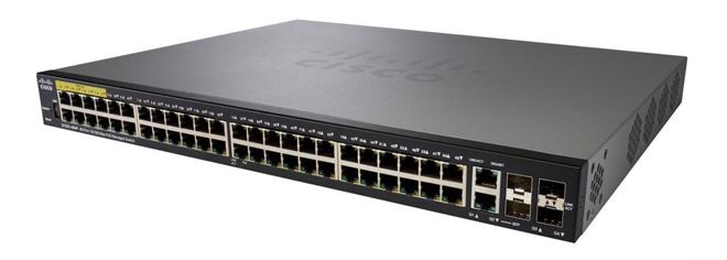 Cisco SG350X-48MP 48-Port Gigabit PoE Stackable Managed Switch