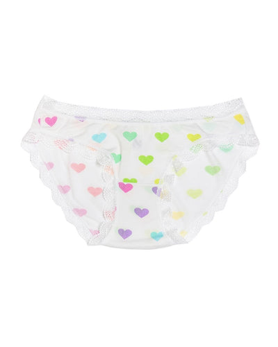 Multi Coloured Heart Knicker
