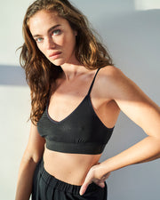 T-Shirt Bra & Bedshort Set - Black